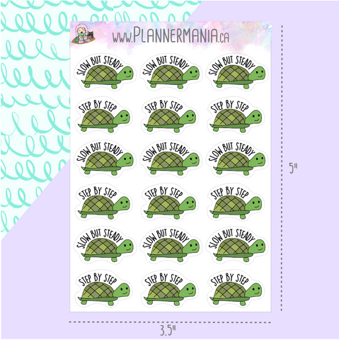 Step by Step Turtle Stickers