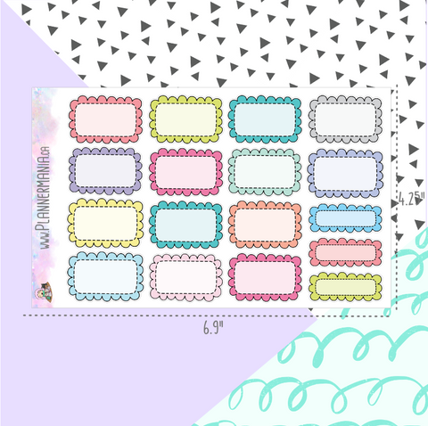 Frilly Box Stickers