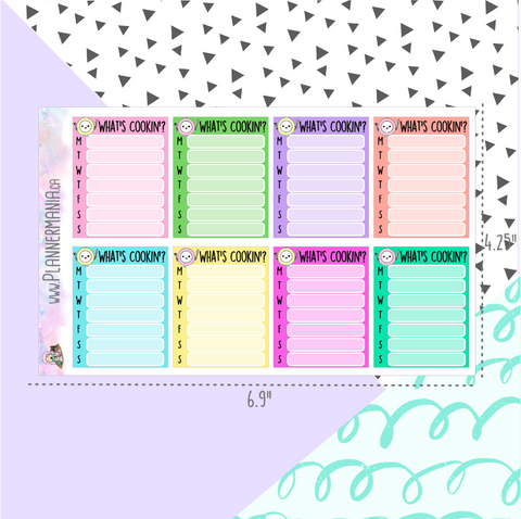 Meal Plan Full Box Stickers