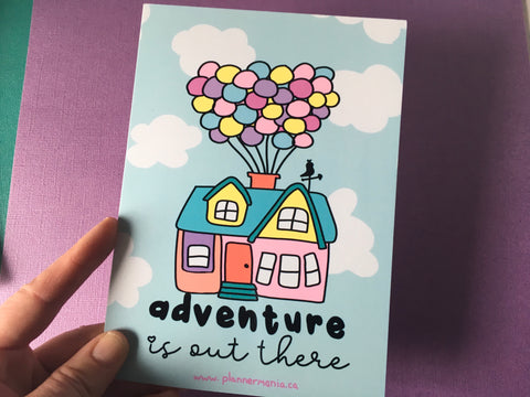 Adventure is Out There Post Card