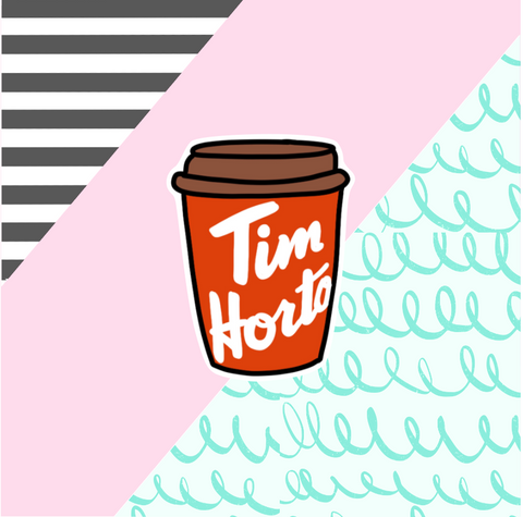 Tim Horton's Cup Die Cut Sticker Flake