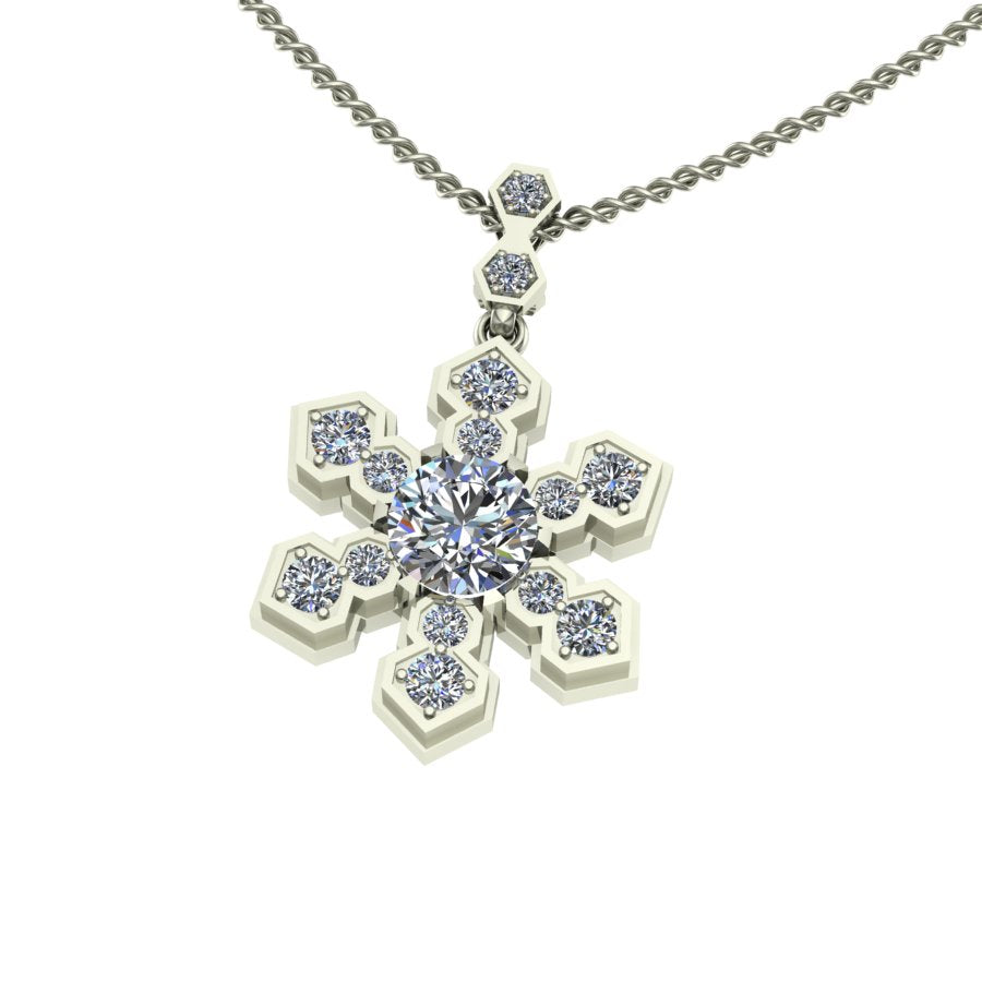 pendant single metalsmiths snowflake us silver sterling products