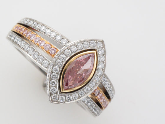 Platinum Pink Diamond Marquee Ring