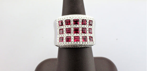 18KW Ruby and Diamond Ring