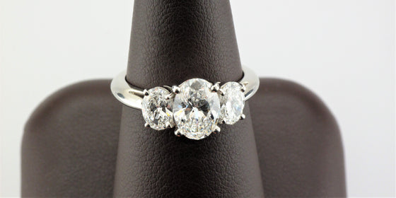 Platinum Oval Diamond Ring