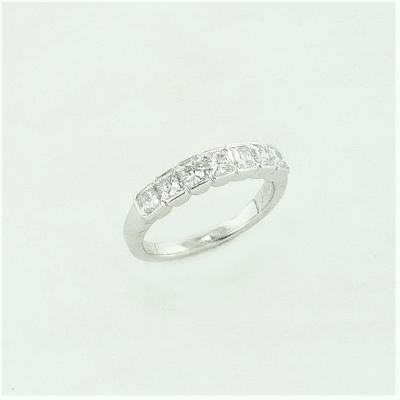 18KW Eternity Band with Asscher Cut Diamonds