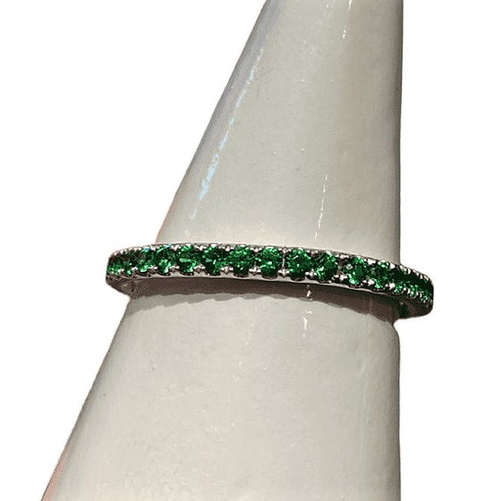 18KW TSAVORITE GARNET ENTERNITY RING
