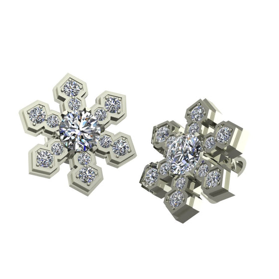 Snowflake Multi-Diamond Earrings