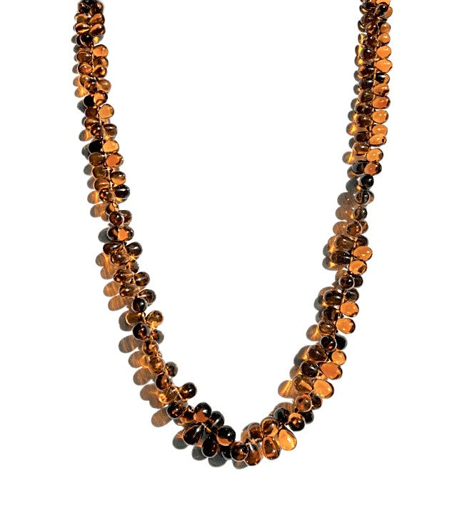 18KY CITRINE BEAD NECKLACE