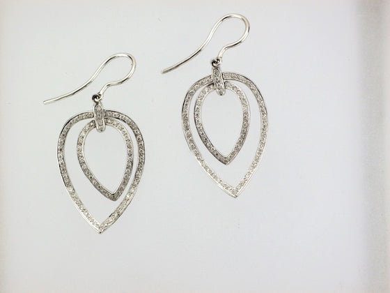 18KW Teardrop Diamond Earrings