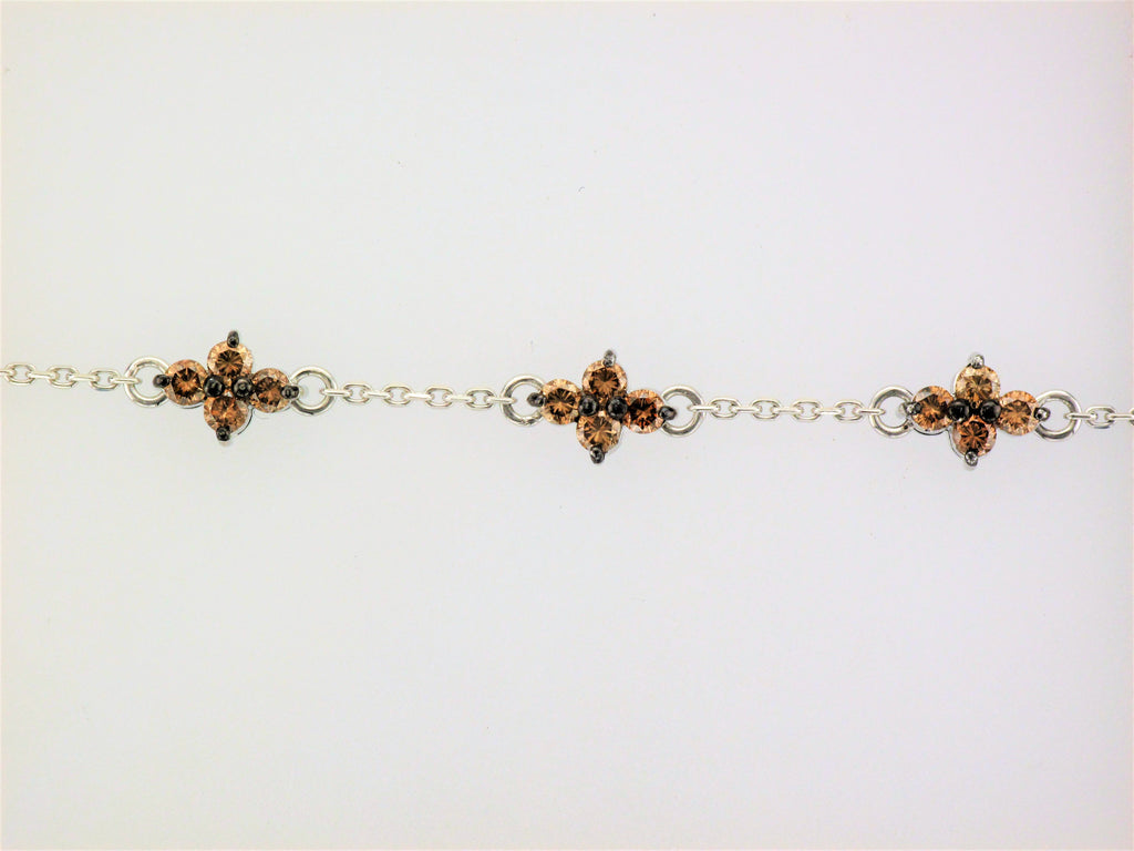 18KW Brown Diamond Bracelet