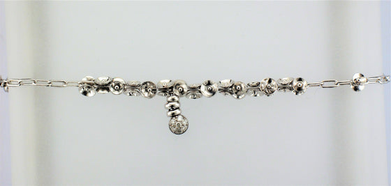18KW Diamond Dangle Bracelet