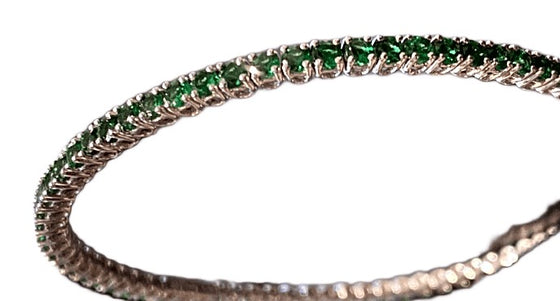 18KW TSAVORITE GARNET FLEX BANGLE