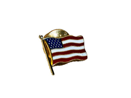 14KY American Flag Lapel Pin