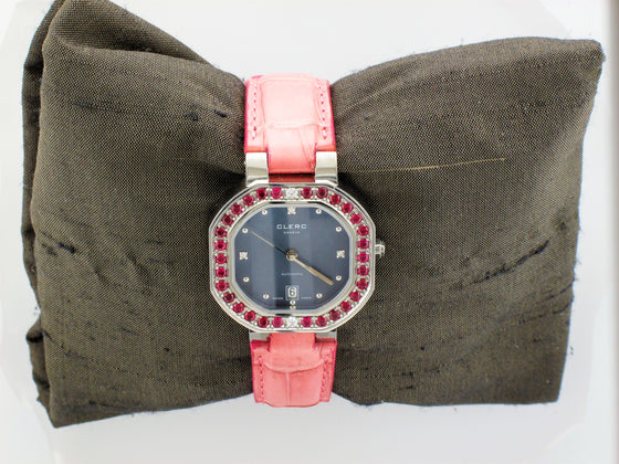 Vintage Clerc Ladies Ruby Watch