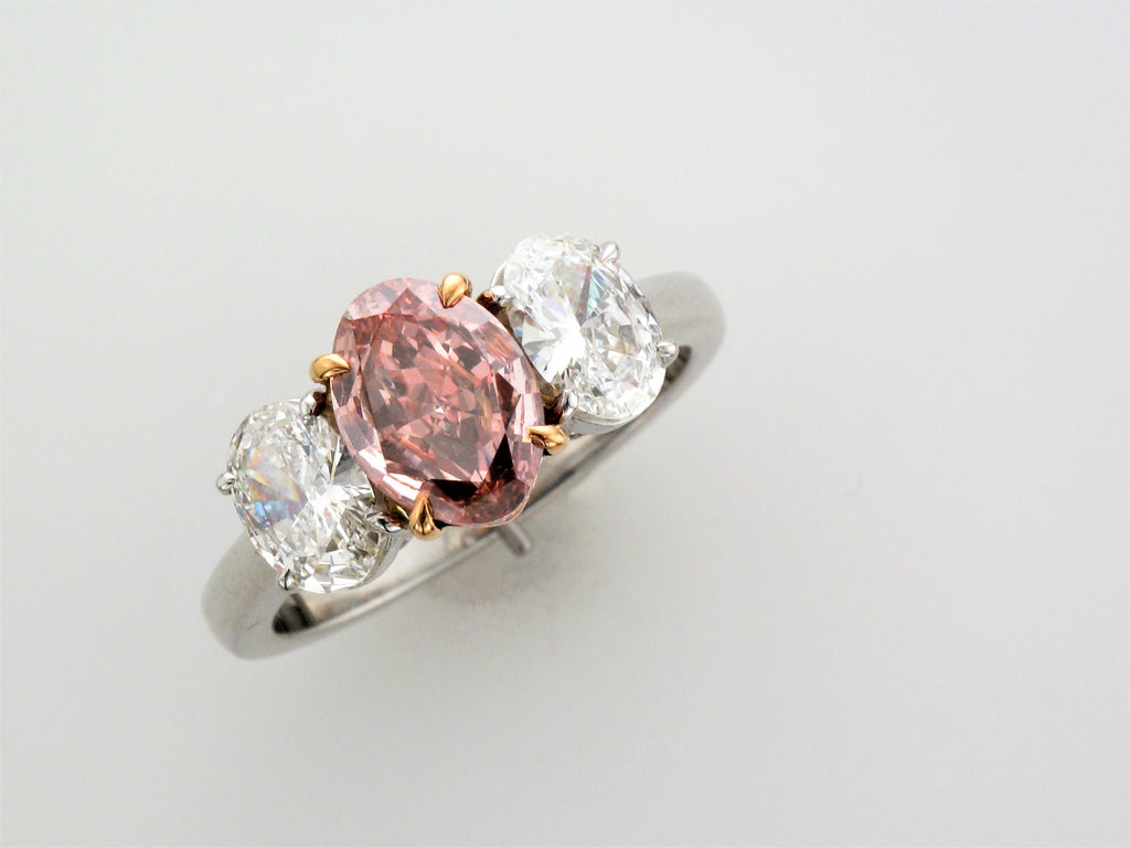 Platinum / 18KR Pink Diamond Ring