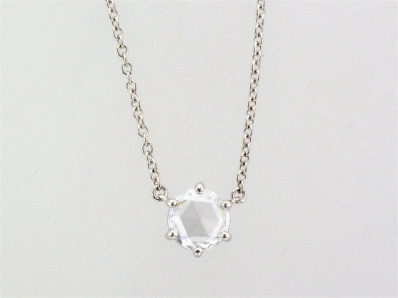 Platinum Rose Cut Diamond Necklace