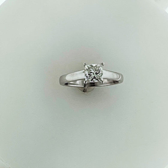 Platinum Square Diamond Ring