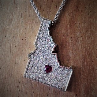 Idaho Diamond and Ruby Pendant
