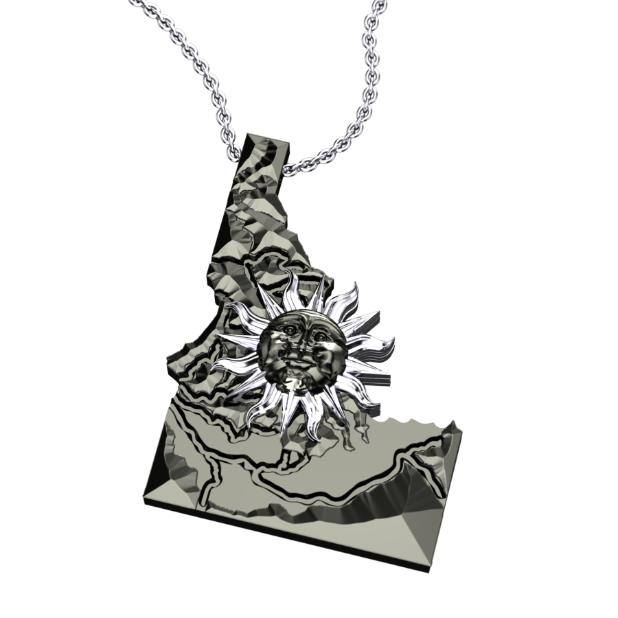 Solar Idaho Map Pendant