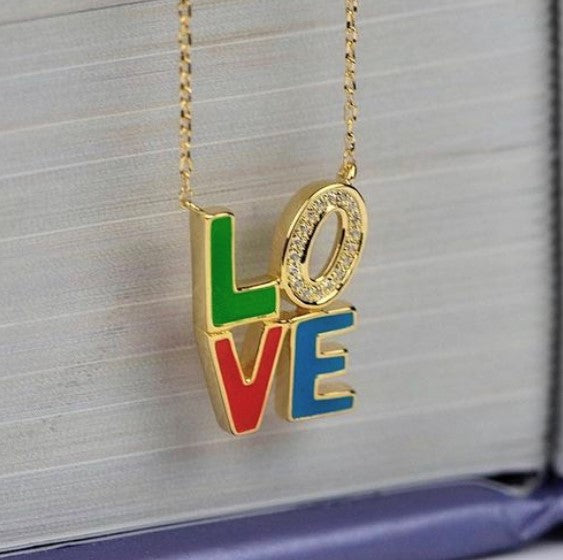 14KY LOVE NECKLACE
