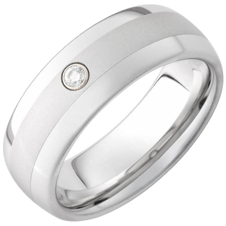 Serinium Domed Diamond Band