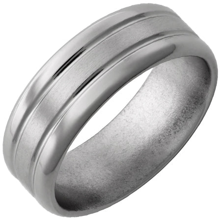 Titanium Band with Grooves