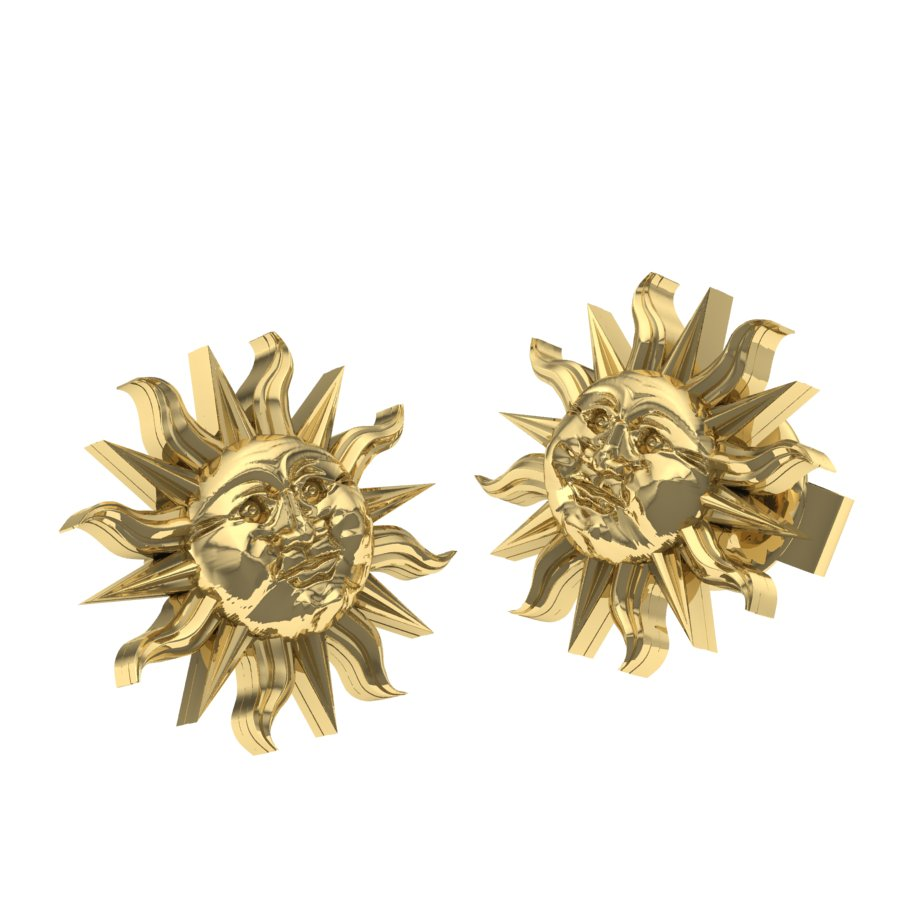 14KT Anniversary Mini Sun Post Earrings