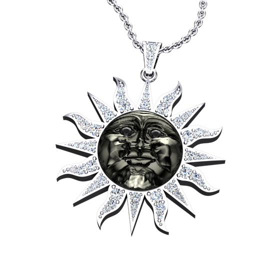 Eclipse Diamond Sun Pendant