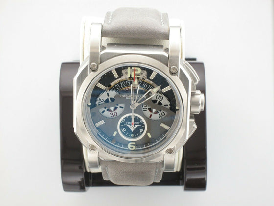 VISCONTI 2-SQUARED CHRONOGRAPH SILVER SHADOW WRISTWATCH