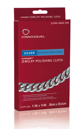 Connoisseurs Silver Jewelry Polishing Cloth