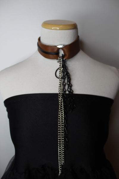 Brown Chained Collar