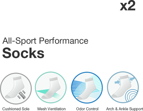 PUMP! All-Sport Performance Socks