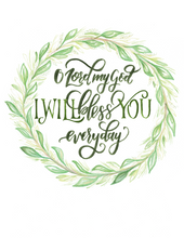"""Bless You Everyday"" Lyric Art"