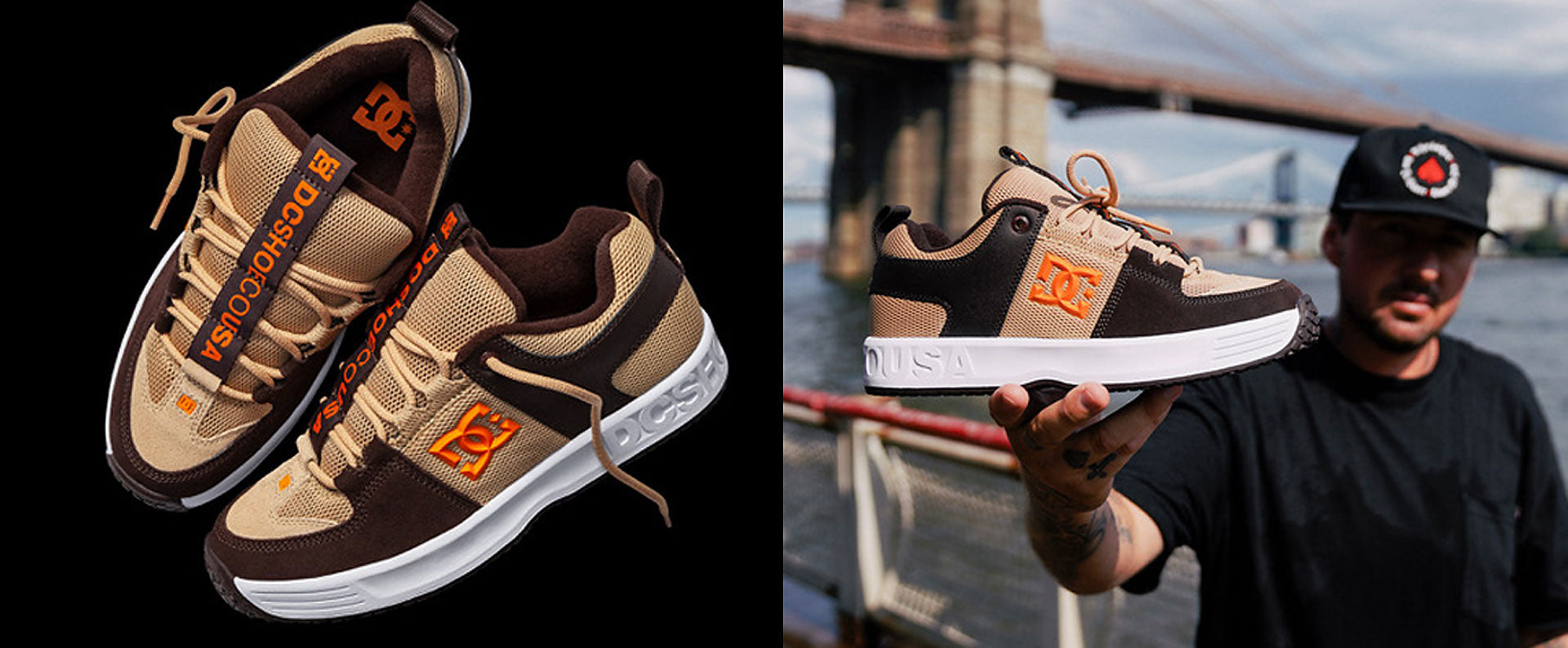 DC Shoes Brian Wenning Heritage Lynx OG Brown - Tan