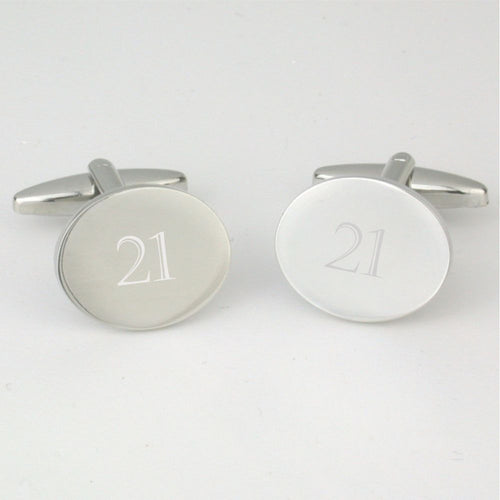 21st Birthday Cufflinks Cotswold Gift Company