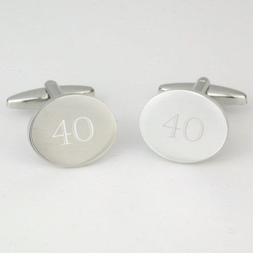 40th Birthday Cufflinks Cotswold Gift Company