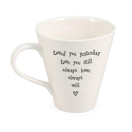 East of India 'Loved You Yesterday' Porcelain Mug