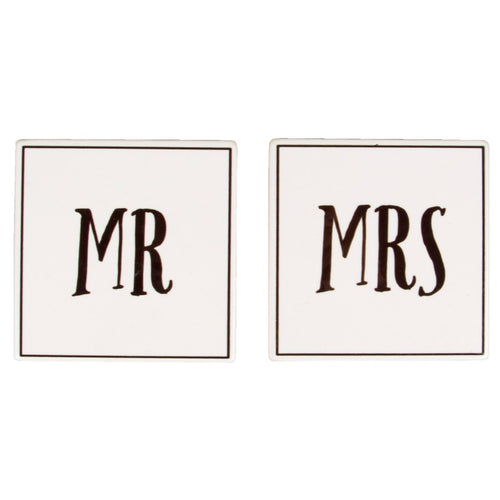 Sass & Belle 'Mr and Mrs' Coaster Set