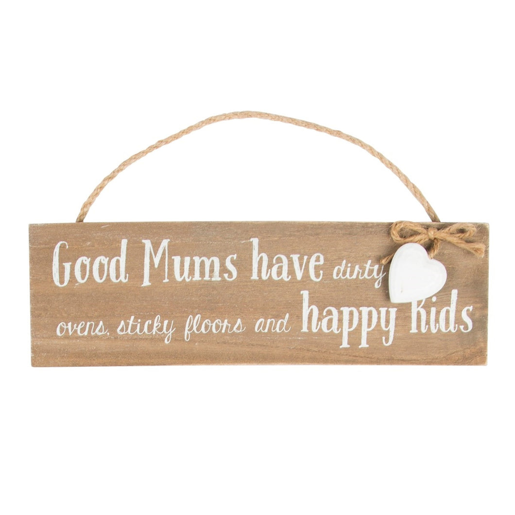 Sass and Belle 'Good Mums Have...' Wall Plaque