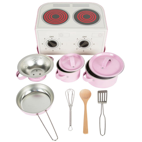 Sass and Belle Childrens Kitchen Cooking Box Set Pink