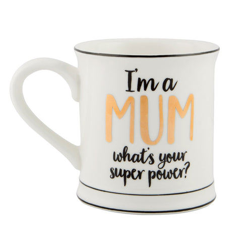 Sass and Belle 'I'm A Mum, What's Your Superpower' Porcelain Mug