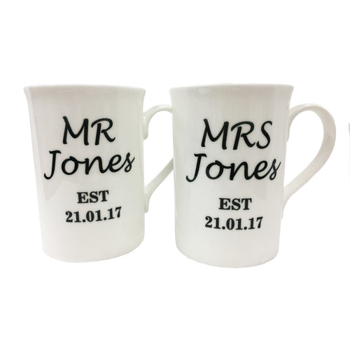 'Mr & Mrs Est' Mugs