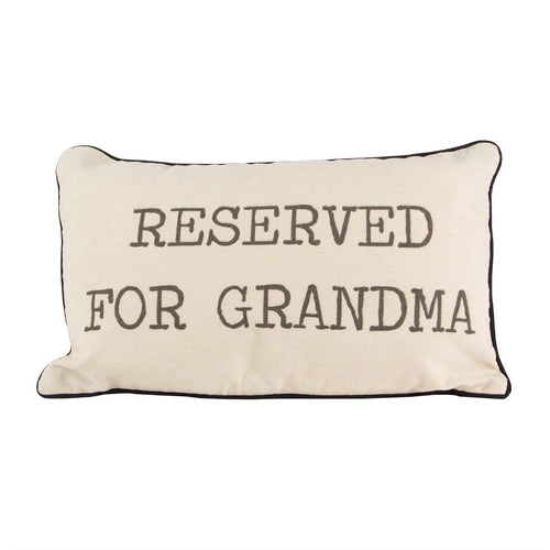 Sass and Belle 'Reserved For Grandma' Cushion Front