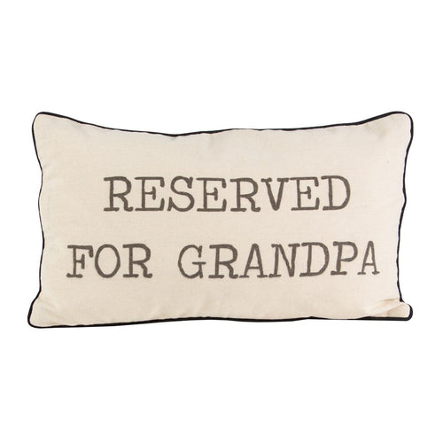 Sass and Belle 'Reserved For Grandpa' Cushion Front