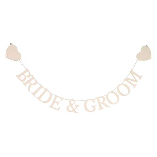 'Bride & Groom' Garland
