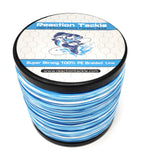 Reaction Tackle Braided Fishing Line- Blue Camo