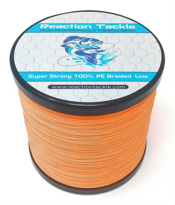 Reaction Tackle Braided Fishing Line- Fluorescent Orange