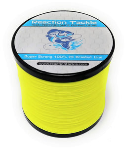 Reaction Tackle Braided Fishing Line- Hi-Vis Yellow