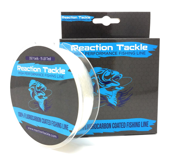 Reaction Tackle Fluorocarbon Coated Fishing Line - 350 Yards- High Strength - Mono Upgrade